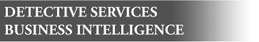 Detective services, Business intelligence